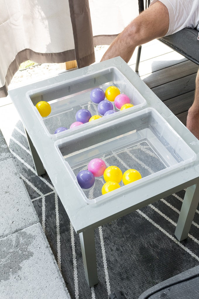 DIY water sensory table for toddlers