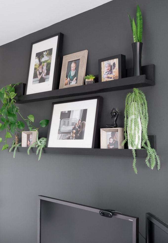 Groovy Diy Photo Ledge Shelves Inspired By Ikeas Mosslanda Line Home Interior And Landscaping Dextoversignezvosmurscom