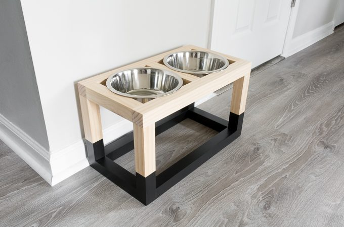 DIY raised dog feeder build plans