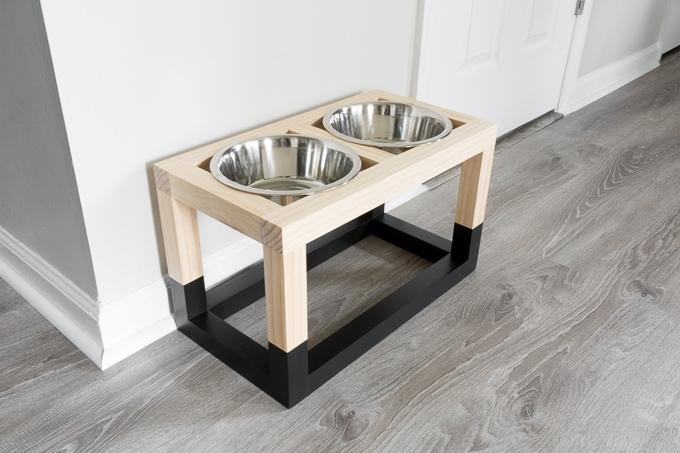 Diy Raised Dog Feeder Free Build Plans Food Stand