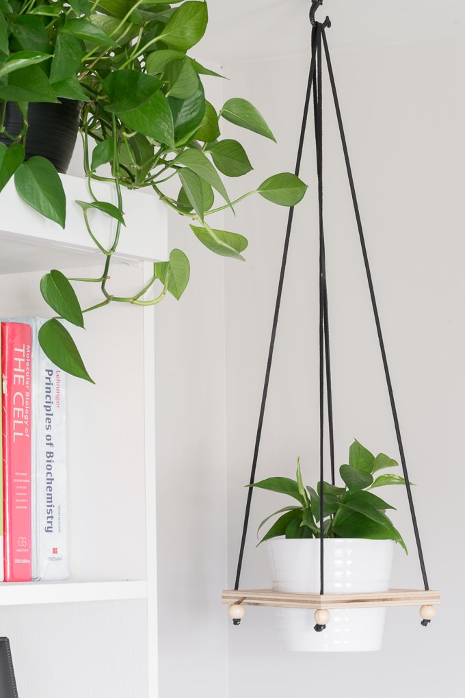Diy Hanging Plant Holder Make A Wooden Hanging Plant Pot Holder