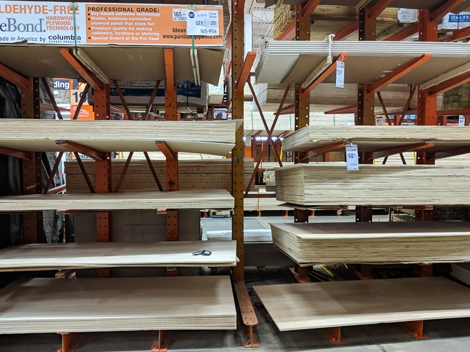 plywood at home depot