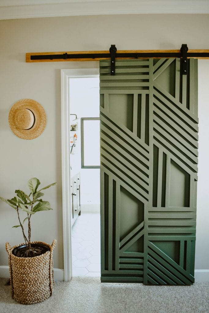 cheap DIY furniture ideas modern barn door