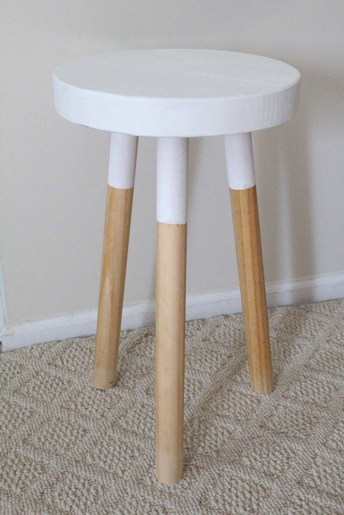 modern stool DIY inspired by west elm