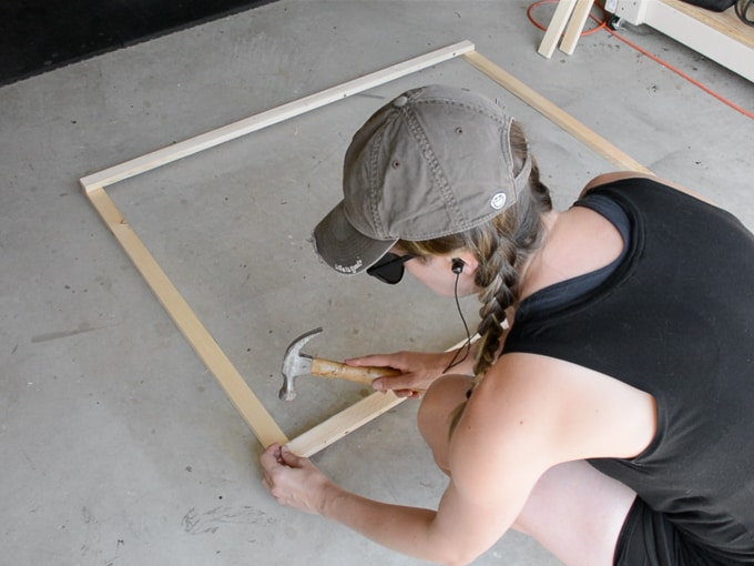 building the trellis frame