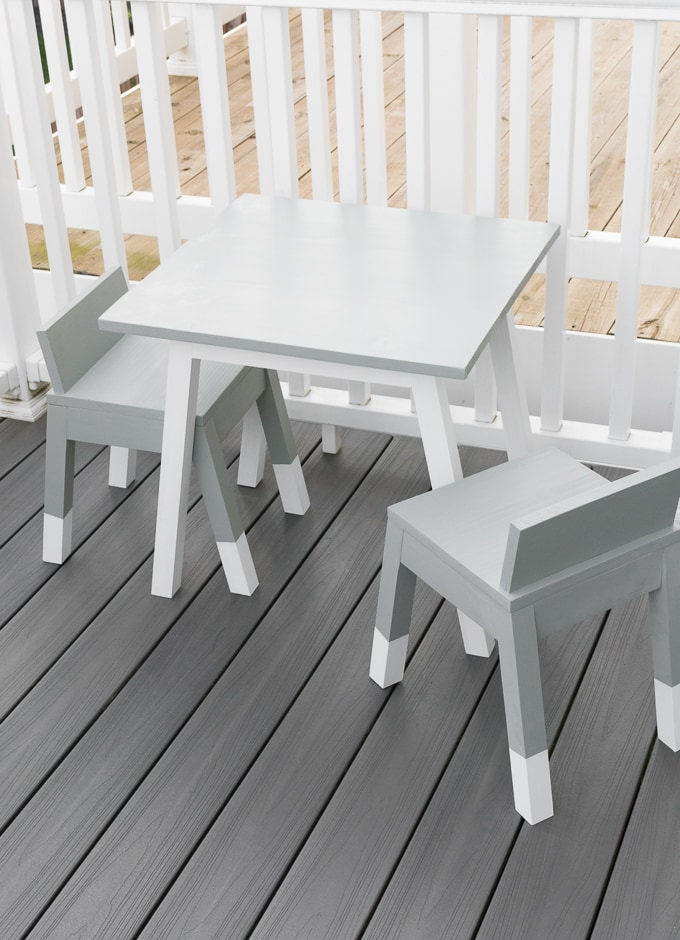 modern outdoor kids table build