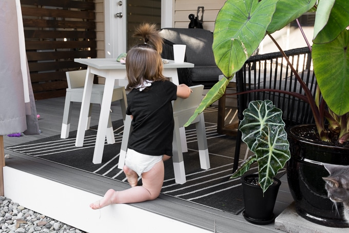 Modern Outdoor Kids Chairs Tutorial