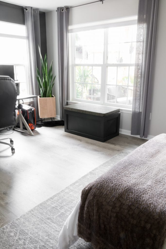 Lifeproof vinyl plank flooring in a basement