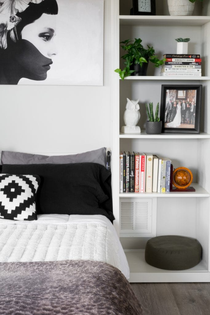 DIY murphy bed with a modern look in a townhome