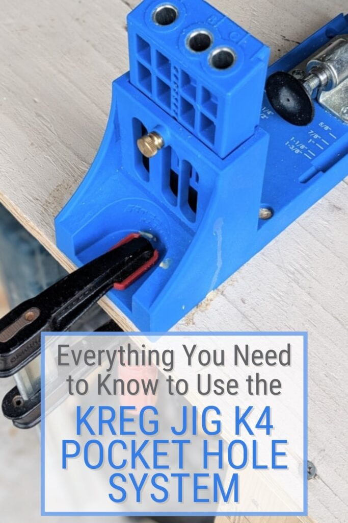 Image of the Kreg Jig K4 with text Everything You Need to Know to Use the Kreg Jig K4