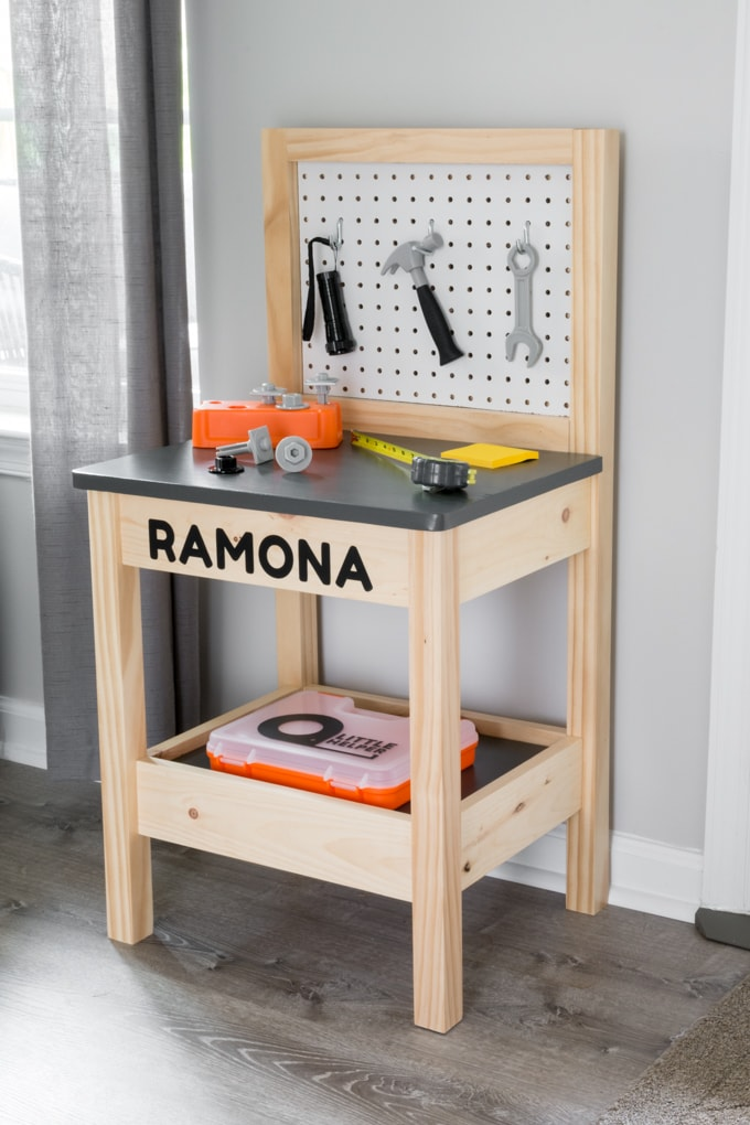 diy kids workbench build plans