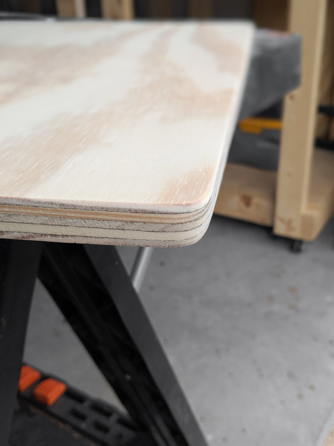 rounded corners using an orbital sander