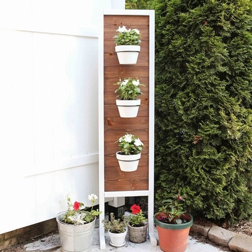 DIY Vertical Planter Stand - Angela Marie Made