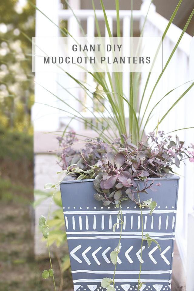 Giant DIY Mudcloth Planter Makeover