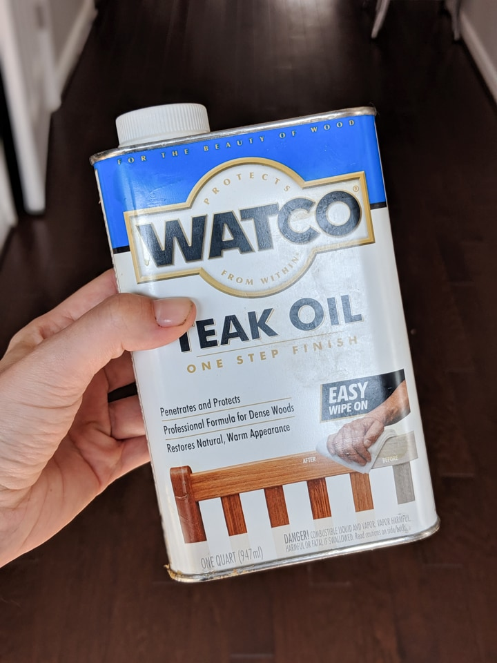 Teak oil for protecting ipe outdoors