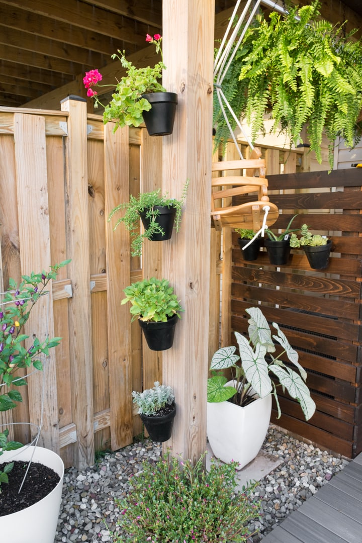 vertical gardening ideas for a small townhouse backyard