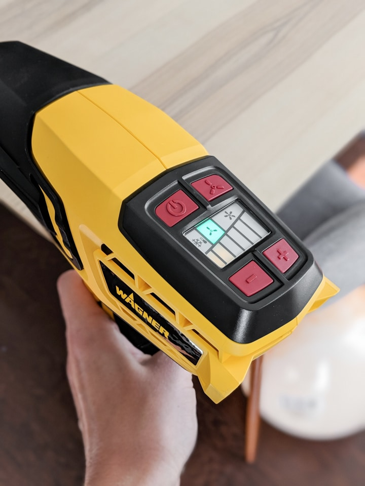 wagner furno 500 heat gun for popping bubbles in epoxy resin
