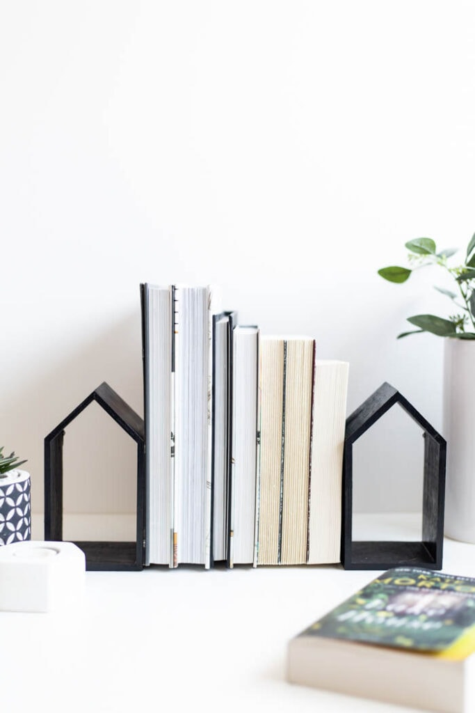 DIY dollar store bookends