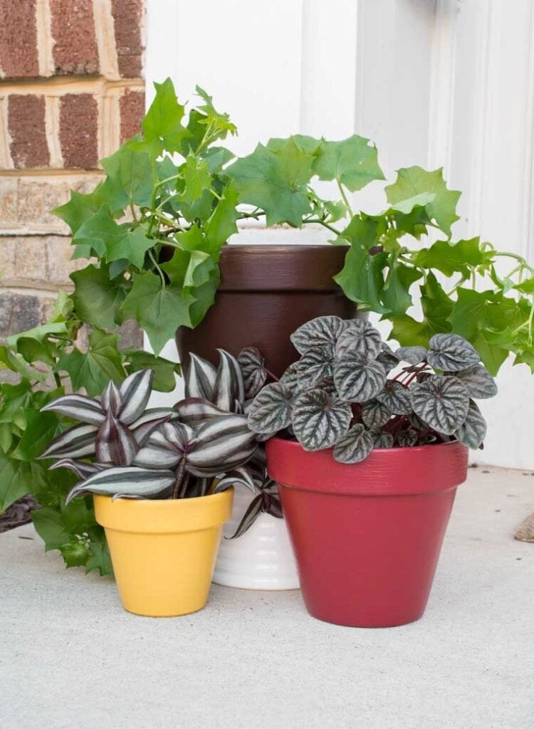 how to paint flower pots for outside