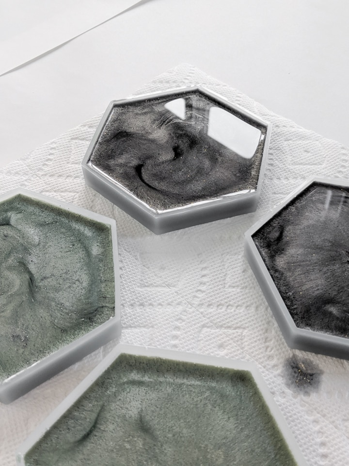 hexagon silicone molds for coasters