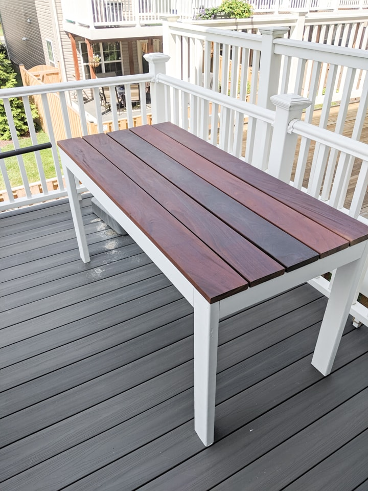 Slatted Outdoor Dining Table Build