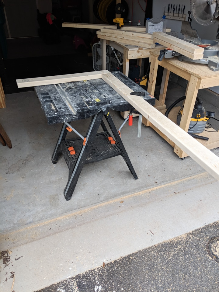DIY 2x4 patio furniture legs