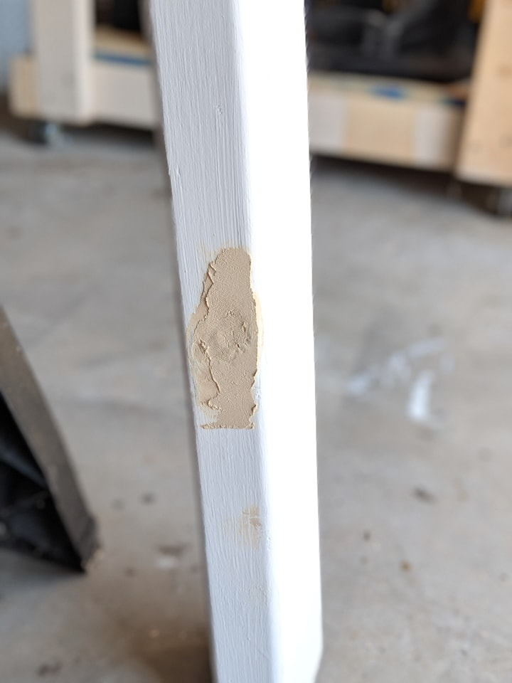 patching knots on 2x4s