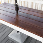 Slatted Outdoor Dining Table Build (At Home DIY 2x4 Challenge)
