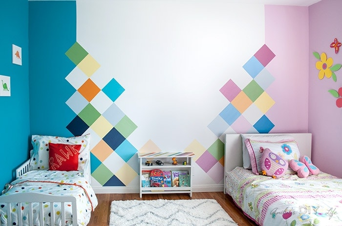 colorful kids shared bedroom