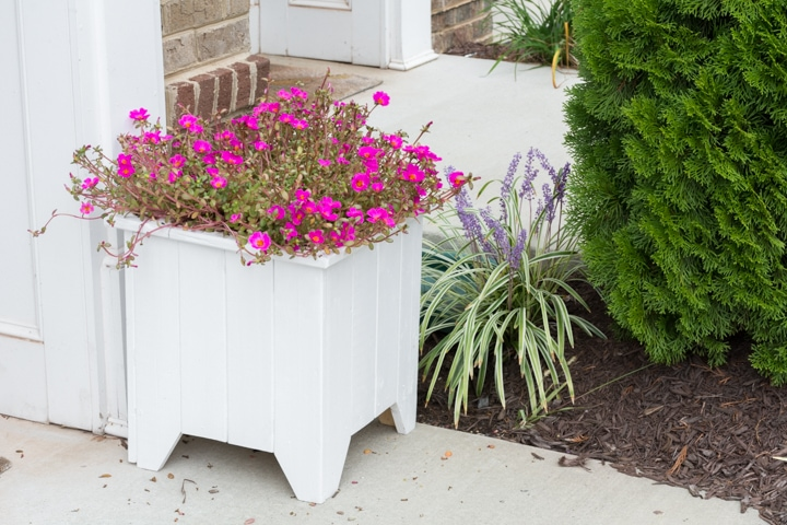 Easy wooden porch planter box DIY