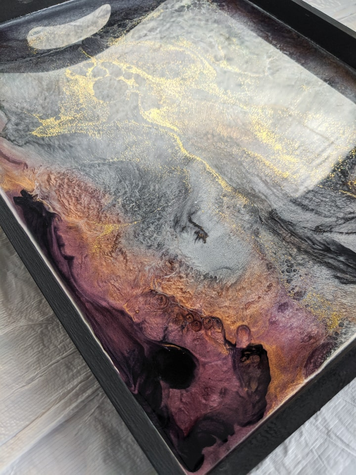 Beautiful epoxy resin tray