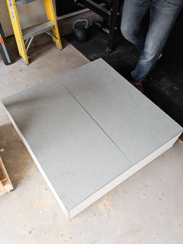 bottom of the easy DIY sandbox