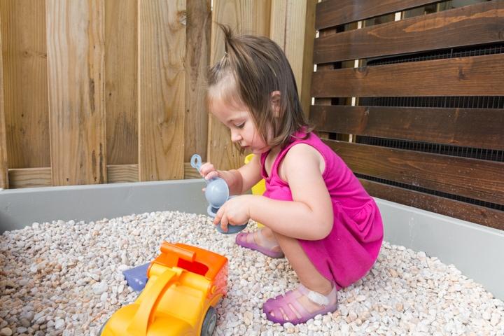 Easy DIY Sandbox or Gravel Pit Play Area