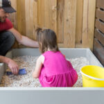 Easy DIY Sandbox or Gravel Pit Play Area
