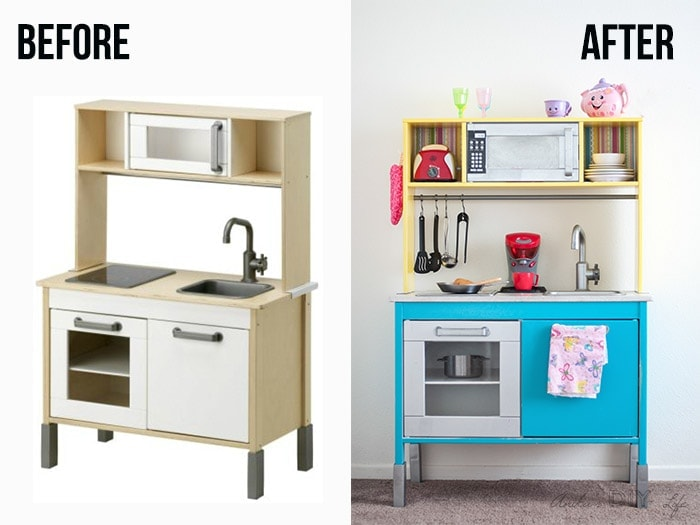 Ikea play kitchen hack by Anika Gandhi from Anika's DIY Life