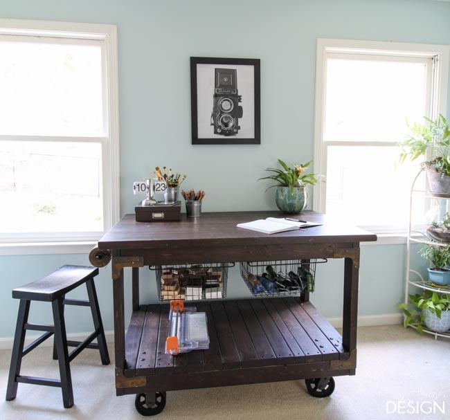 DIY Craft Table With a Vintage Feel