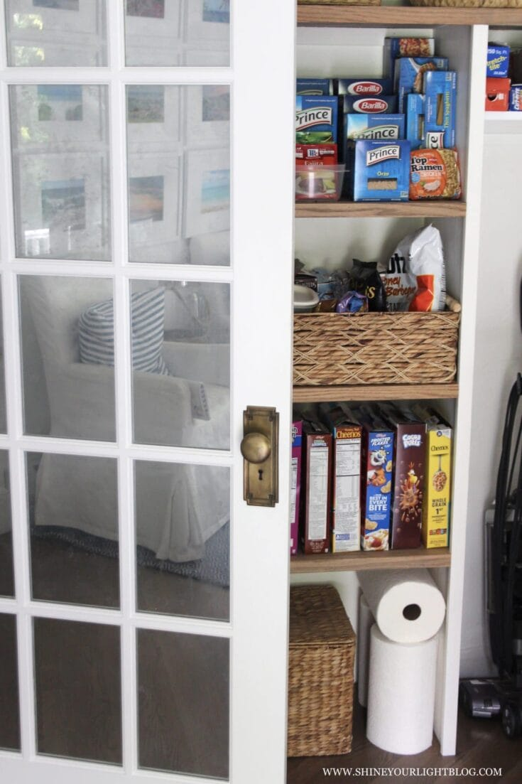 How To Organize A Reach-In Pantry