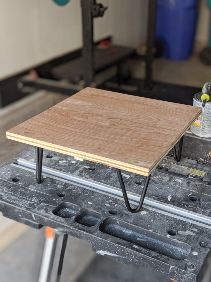 Adding polyurethane to the simple plant stand