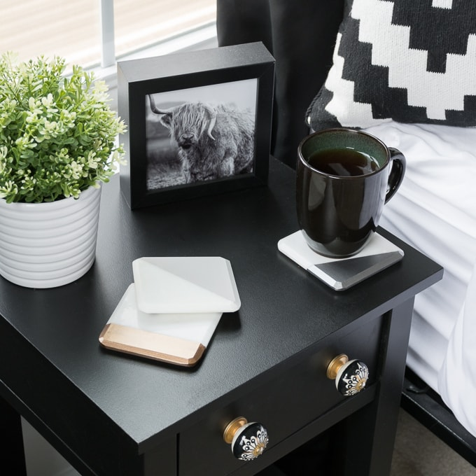 Nightstands Makeover With Americana Decor Satin Enamels