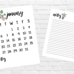 Free Printable 2020 Calendars for Minimalist Plant Lovers