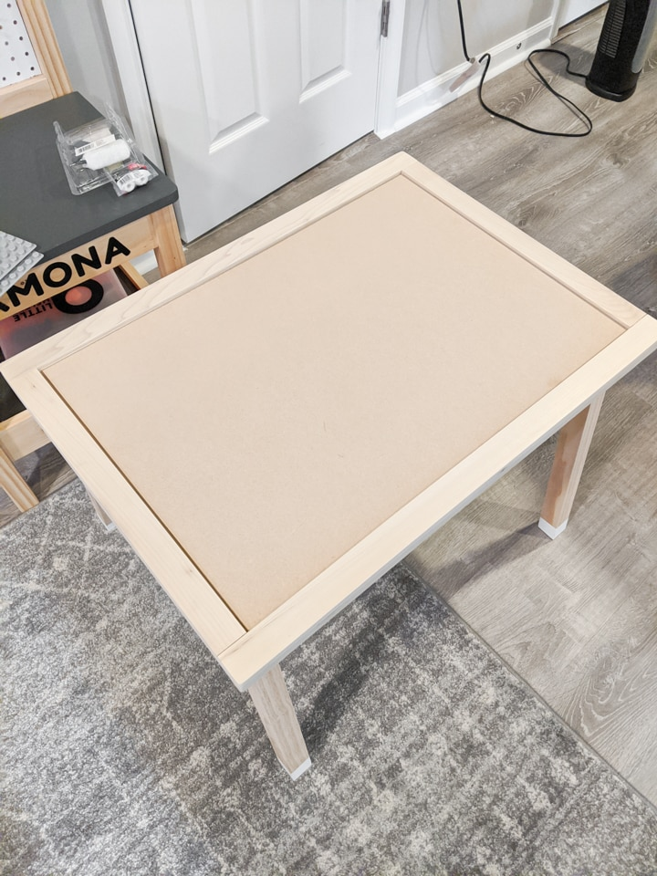 creating a removable topper on a play table