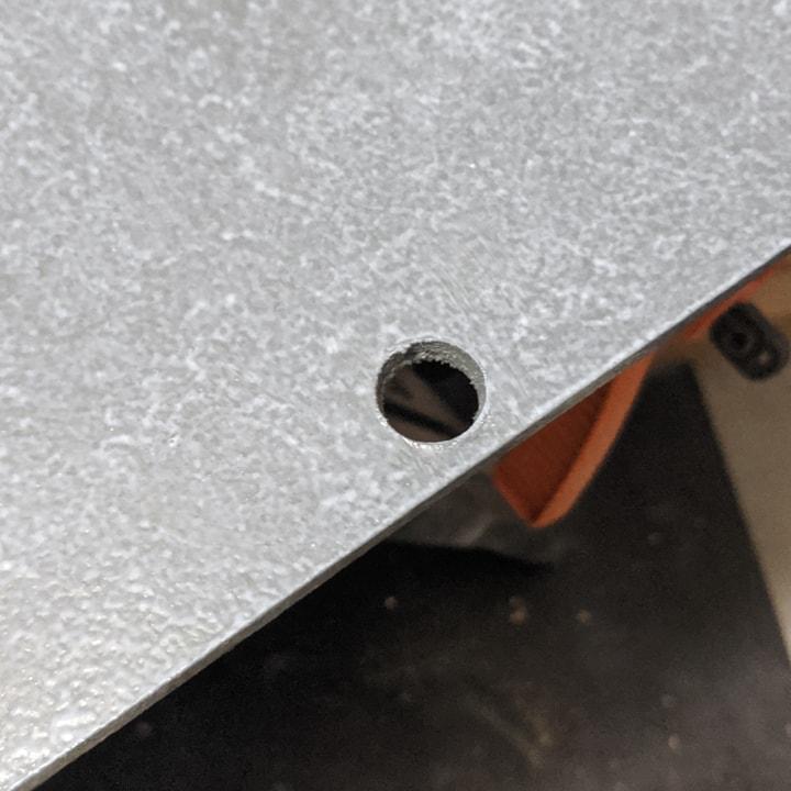 cutting a hole in chipboard