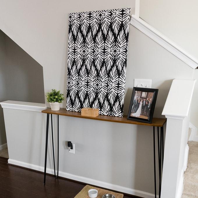 Fabric wall art DIY