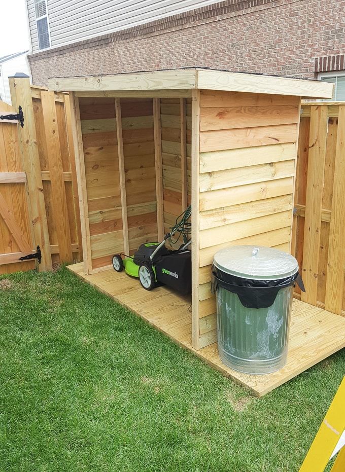 DIY shed for a small backyard