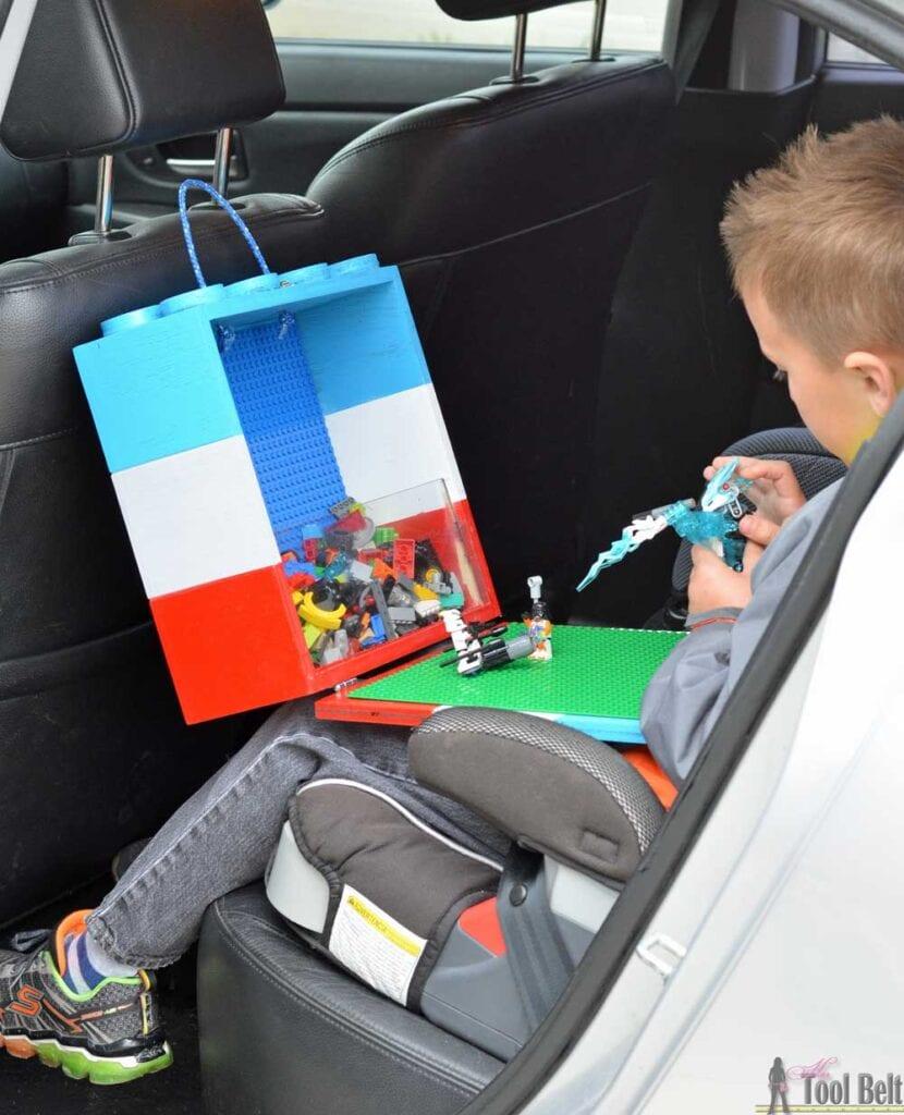 DIY portable lego play box