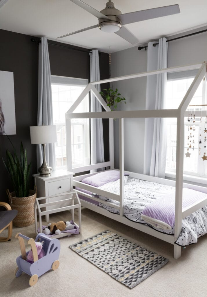 DIY Scandi-Inspired twin-sized House Bed build plans