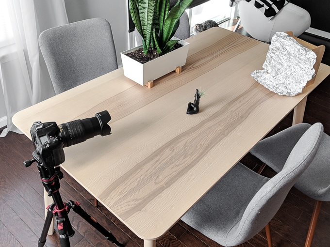 This is part 6 of my Photographing Interiors and Products series and outlines my essential tips for how to photograph products and flat lays. #interiorphotography #productphotography #photography #blogphotography