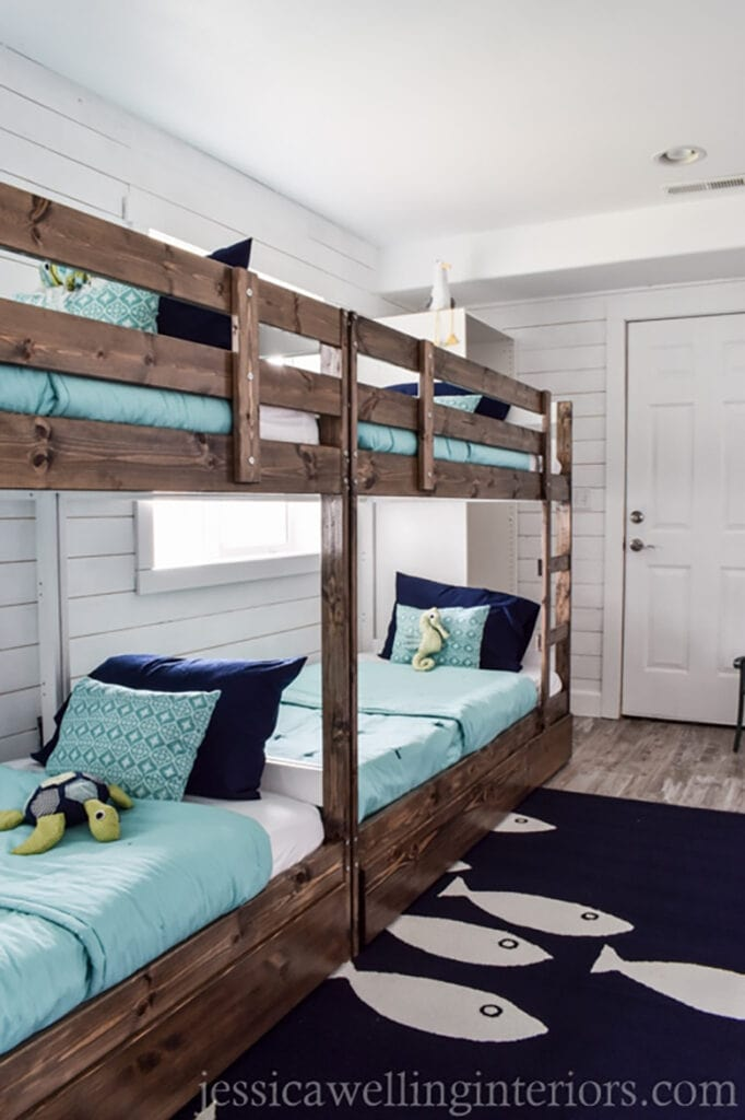 Diy coastal bunk room