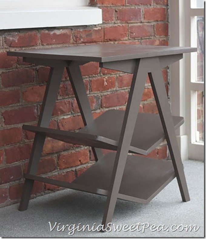 Plow and Hearth DIY chevron end table