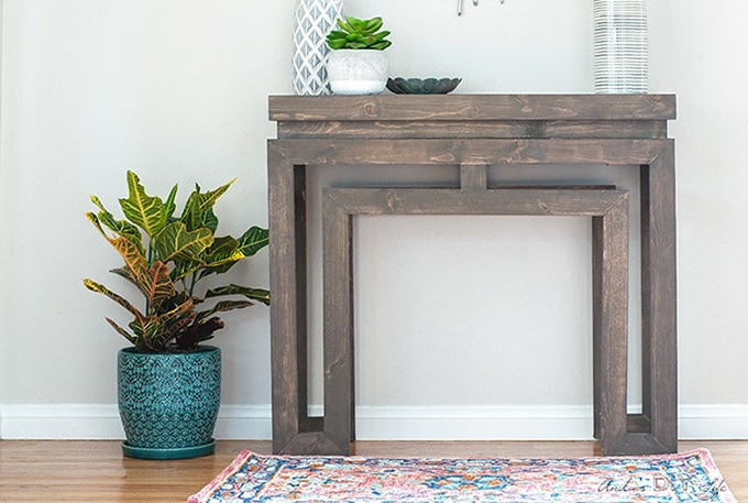 Ballard Designs inspired console table, DIY furniture ideas for the home